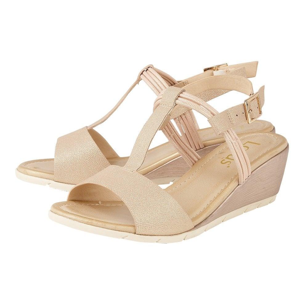 46a4132c8b Buy the rose gold Lotus ladies' Kiera wedge sandal online