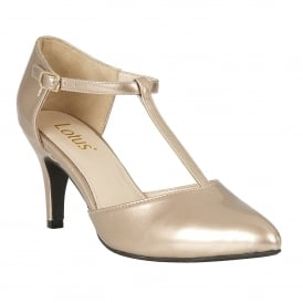 Rose Metallic Camomile Patent Mary-Jane Court Shoes | Lotus