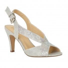 a6f6717c357d Silver Anya Open-Toe Sling-Back Shoes