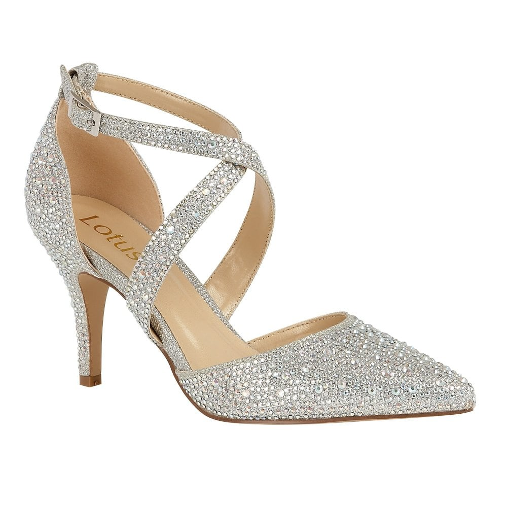 5f1eabad1a Buy the silver Lotus ladies' Star court shoes online