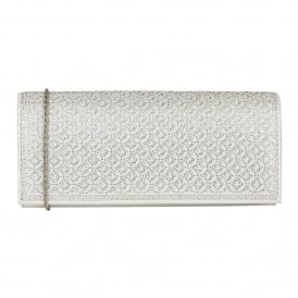 Silver & Diamante Tadine Clutch Bag | Lotus