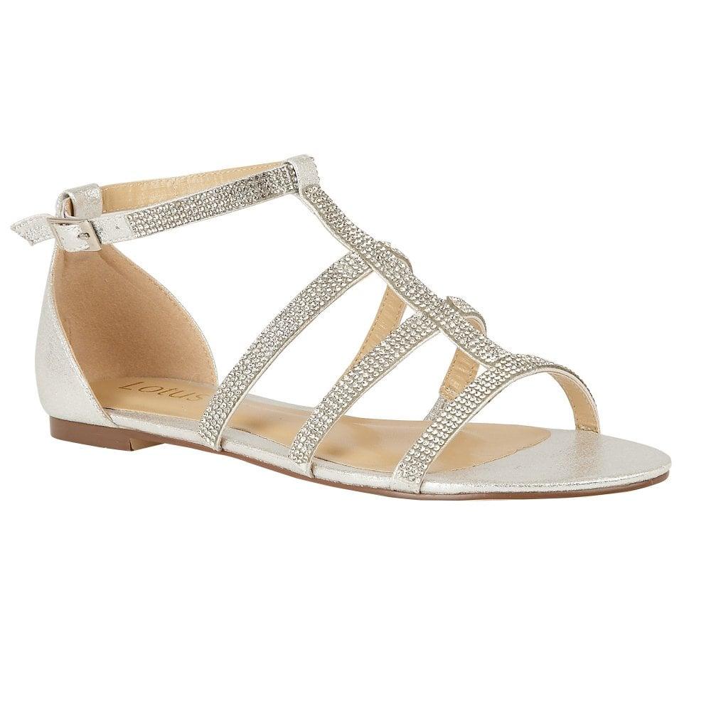 online here 2018 sneakers huge sale Buy the silver Lotus ladies' Zelina sandal online