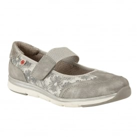 Silver Florated Natos Velcro Trainers | Lotus Relife