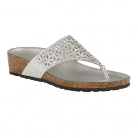 Silver Forsetti Mule Toe-Thong Sandals | Lotus