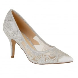 Silver Glitz Groove Court Shoes | Lotus