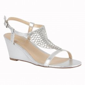 8b050a290dc60b Silver Kassidy Wedge Sandals