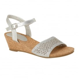 Silver Lugalo Wedge Sandals | Lotus