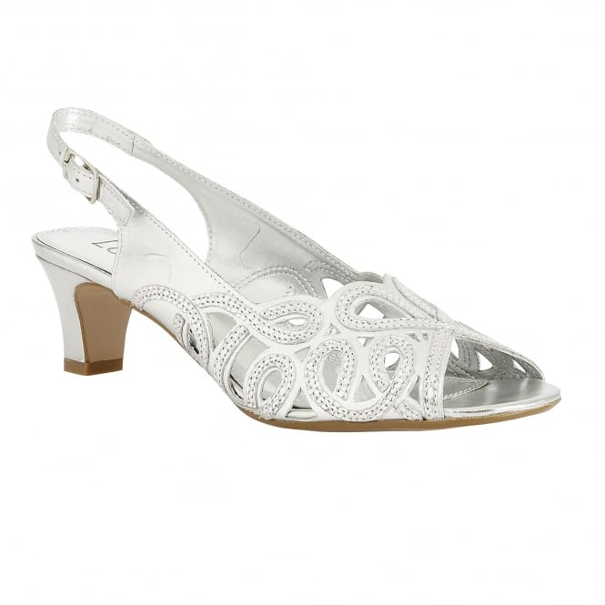 Silver Snake Printed Harper Leather Sandals | Lotus