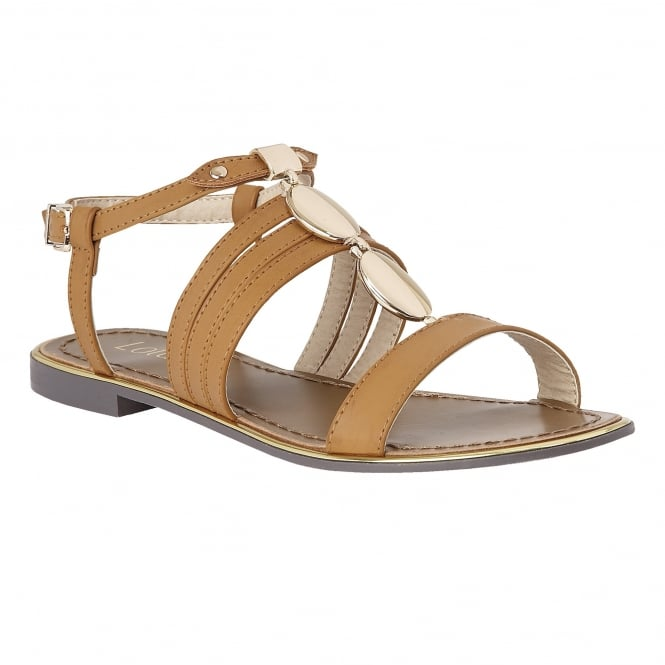 Tan Alpine Flat Sandals | Lotus