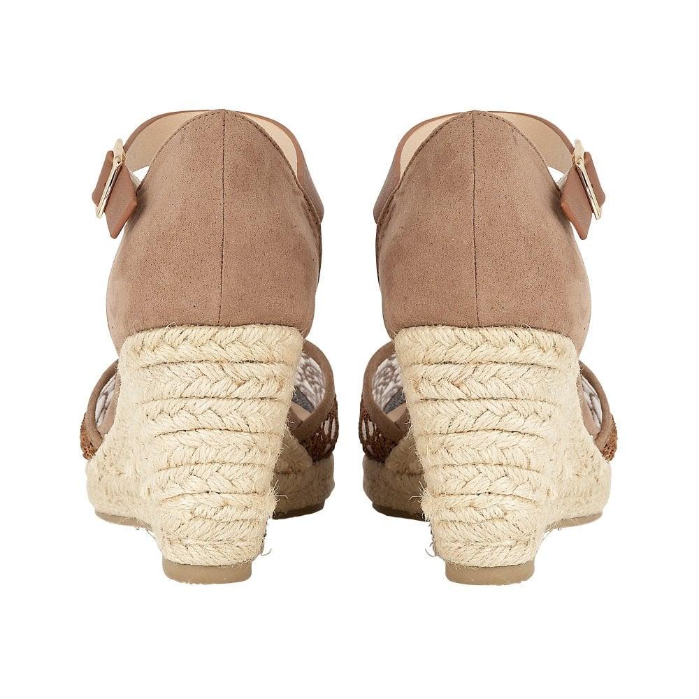 ce7b5b69ed4 Buy the tan Lotus ladies  Eartha wedge shoe online