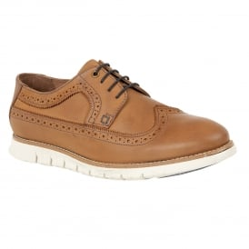 Tan Holloway Leather Brogues | Lotus