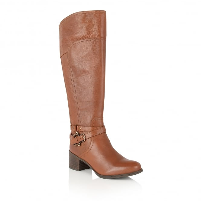 Tan Kennedia Leather Knee-High Boots | Lotus