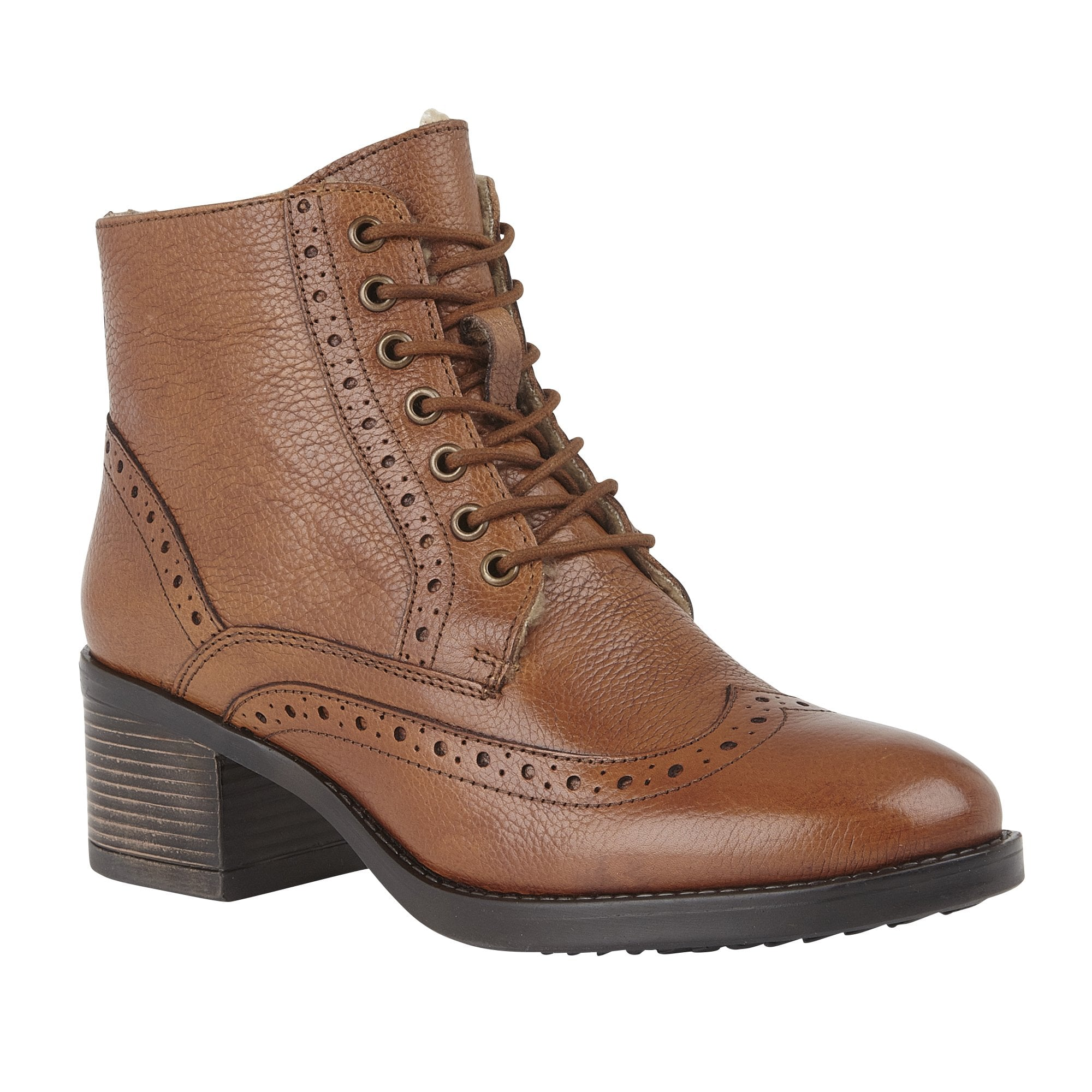Amira ankle boot in tan leather