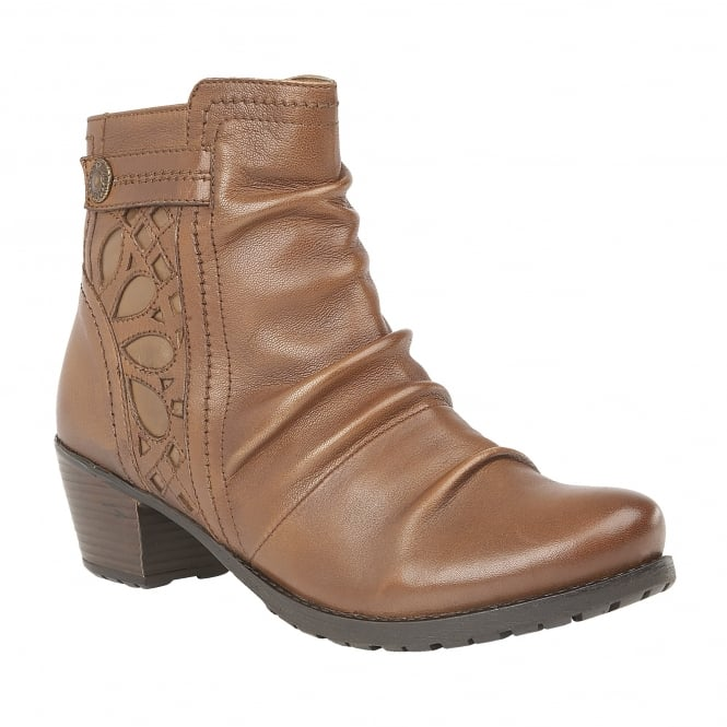 Tan Maples Leather Ankle Boots | Lotus