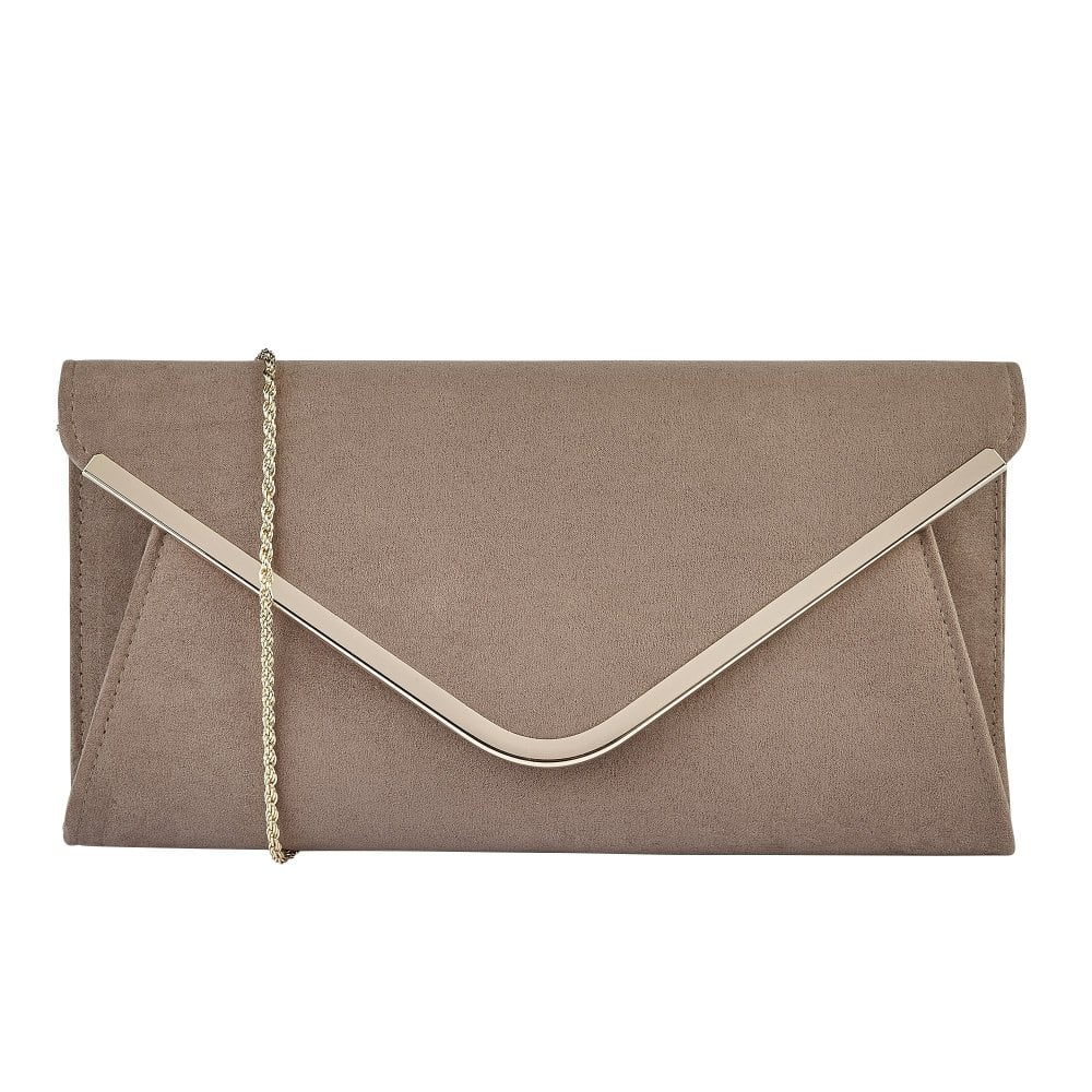 hot-selling cheap diversified in packaging new style Taupe Microfibre Sommerton Clutch Bag | Lotus