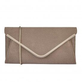 e9e7677d46 Taupe Microfibre Sommerton Clutch Bag | Lotus