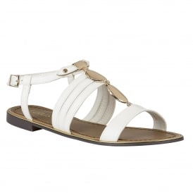 White Alpine Flat Sandals | Lotus