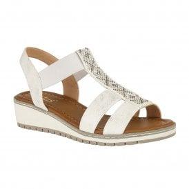 de716426e434 White Etta Wedge Open-Toe Sandals