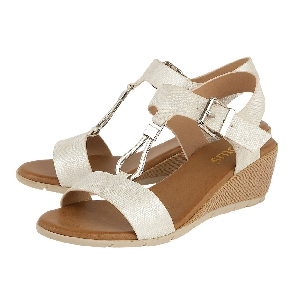 1b3e9e373 Buy the Lotus ladies  Ginny wedge sandal in white online