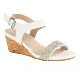 ed052b0259722b White Glitz Ace Wedge Open-Toe Sandals