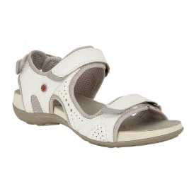 White Hizon Velcro Sandals | Lotus Relife
