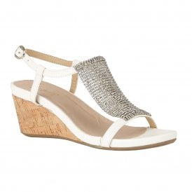 9c7dfbc4679b85 White Klarissa Wedge Open-Toe Sandals
