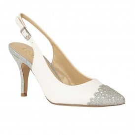 cac1a6c875b White   Silver Glitz Arlind Sling-Back Court Shoes