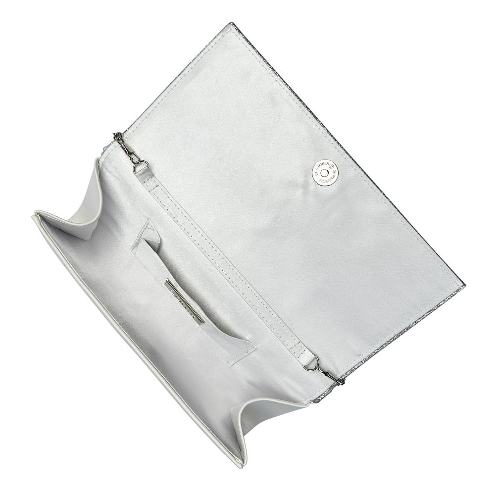 c0c1f59d9 Buy the white & silver Lotus Fidda clutch bag online