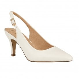b271d1d7bc47 White Smooth Lizzie Sling-Back Shoes