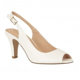 4221de023ea White Smooth Zaria Sling-back Shoes
