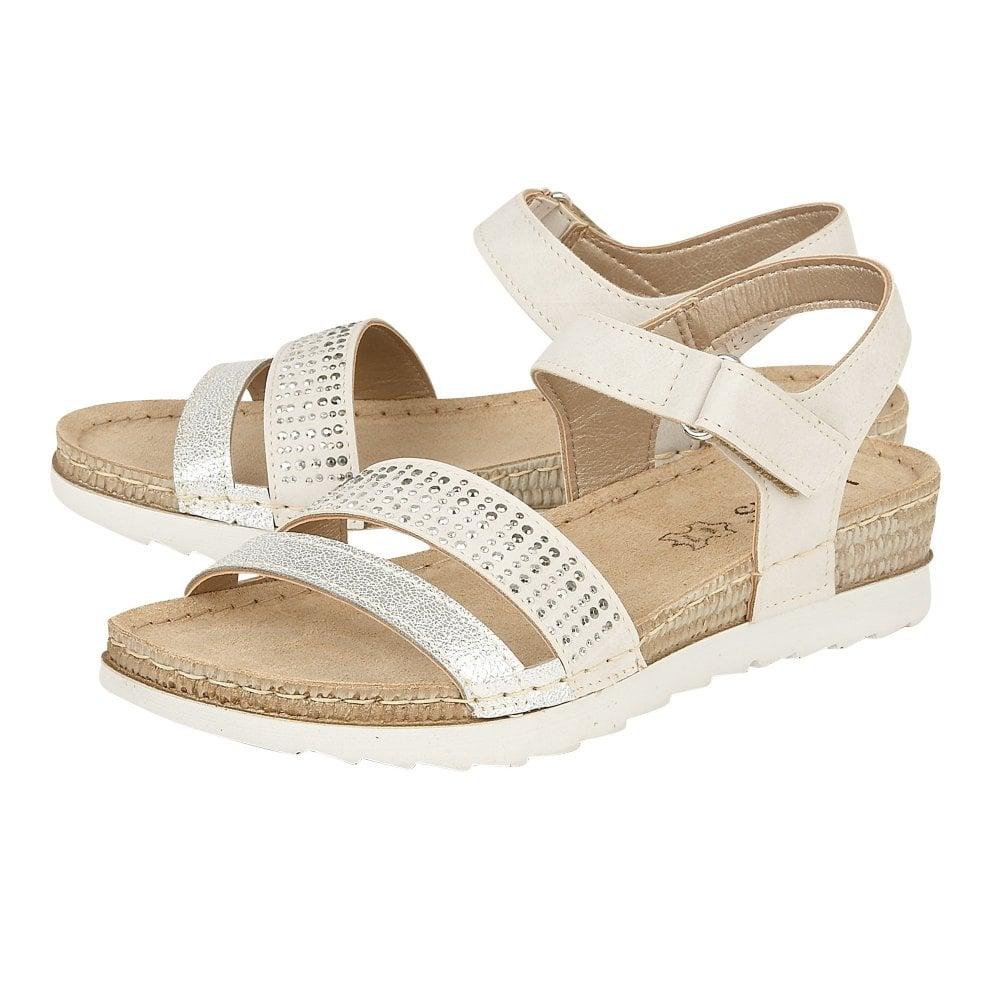 91574ab60daf8 Buy the white Lotus ladies  Taryn sandal online